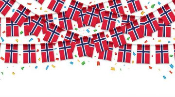 norwegian flag garland